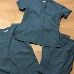 4 sets of Grey scrubs